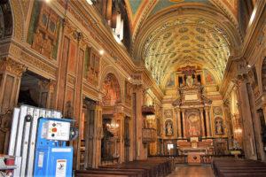 illuminazione chiesa in centro a Torino